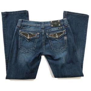 Miss Me Bootcut Jeans 29 Zipper detail pocket